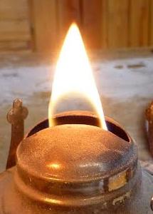 Płaski płomień naftówki